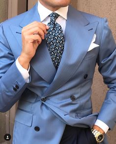 Blue Blazer Outfit, Blazer Outfits Men, Mens Fashion Suits, Mens Suits, Clothes For Big Men, Suit Combinations, Designer Suits For Men, Fashion Sale, Style Fashion