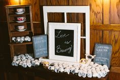 """Looking for the perfect wedding favor? Whole leaf tea is a great idea... This couple used the sign """"Love is Brewing"""" with selections of Green Tea, White Tea, Black Tea and Herbal Tea!  From Aoi and Matthew's Willowdale Estate Wedding – Topsfield, MA  - Photography by Shane Godfrey Photography"""