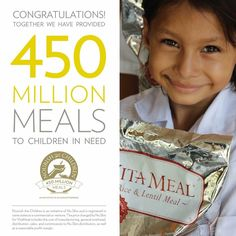 Global Vitameal Donation: We reached the 450million meal mark!! Thanks everyone!!! Don't let it stop!