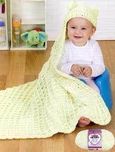 Cozy Hooded Blanket   AllFreeCrochetAfghanPatterns.com