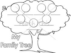 Printable kindergarten family Family Graphic  worksheet for tree Teaching for  Organisers Tree  Classroom