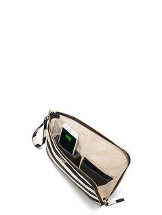 Phone Charging Purse - everpurse x kate spade new york quentin stripe wristlet pouch   Kate Spade $198.00