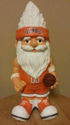 """Illinois Fighting Illini Decorative Basketball Gnome Approx. 12"""" #Illinois"""