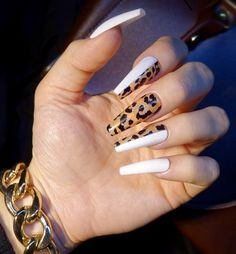2019 Stunning Leopard Print & Snakeskin Pattern Nails Art Ideas - Page 6 of 7 - Vida Joven Aycrlic Nails, Hot Nails, Bling Nails, Hair And Nails, Coffin Nails, Pink Coffin, Kylie Jenner Nails, Summer Acrylic Nails, Best Acrylic Nails