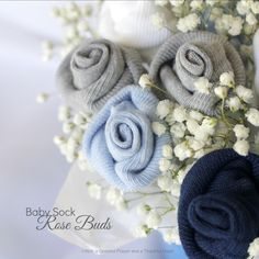 With a Grateful Prayer and a Thankful Heart: Baby Socks Flower Bouquet