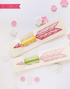pencil valentine diy / printable