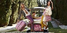 Vera Bradley bags and models on the lower lawns of the Villa during a catalog shoot in 2012