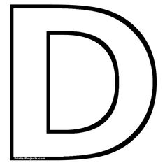 Heres A Simple Alphabet Letter D Template For Kids This