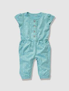 779deb7a5 Baby Girl s Printed Slub Jersey All-in-One Ropa De Bebé Varon