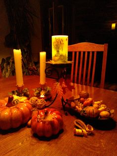dress up your table for Autumn..... Brite Ideas Harvest Candle. free shipping during our November  special . www.briteideas.biz