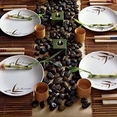 za za zen! love this earthy inspired table setting. very calming.
