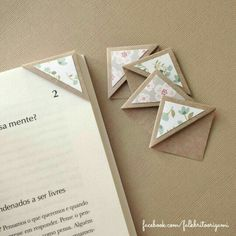Origami for Everyone – From Beginner to Advanced – DIY Fan Creative Bookmarks, Diy Bookmarks, Creative Crafts, Fun Crafts, Diy And Crafts, Crafts For Kids, Paper Crafts, Corner Bookmarks, Bookmark Craft