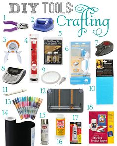 Roundup of tools for DIY crafts, including example projects for each tool from Teal & Lime.