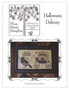 Buy Halloween Delivery Chart Online at www.sewandso.co.uk