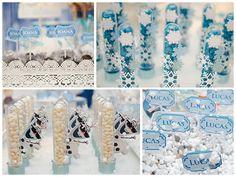 Tubetes, doces e guloseimas foram customizadas para valorizar o tema da festa - Festa Lucas e Joana