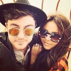 Jake Roche and Jesy Nelson on the top of Blackpool Tower- Beauts