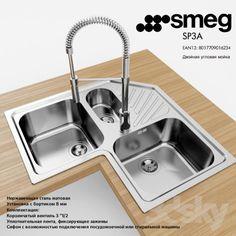 Sink Smeg SP3A / Mixer Smeg MID5CR