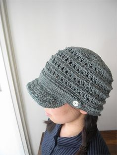 LINNET/Knitting Pattarn リネン糸 編み図 編図 Hat.