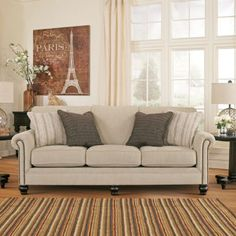 Signature Design By Ashley Alenya Queen Sofa Sleeper In Charcoal