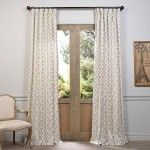 This printed curtain panel by Martinique brings contemporary style to any window in your home. Designed with a rod pocket and back tab for versatility, this 100 percent cotton panel complements a vari Printed Curtains, Cotton Curtains, Drapes Curtains, Curtain Panels, Family Room Curtains, Dining Room Curtains, Modern Farmhouse Table, Curtain Designs, Curtain Ideas