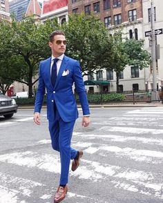 93 Likes, 5 Comments - Dapper Gents' Club Cobalt Blue Suit, Blue Suit Men, Blue Suits, Der Gentleman, Gentleman Style, Blue Suit Wedding, Wedding Suits, Mens Fashion Suits, Mens Suits