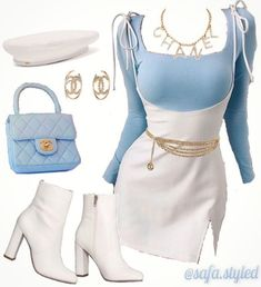 Glamouröse Outfits, Baddie Outfits Casual, Kpop Fashion Outfits, Stage Outfits, Retro Outfits, Girly Outfits, Cute Casual Outfits, Polyvore Outfits, Stylish Outfits