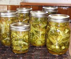 Jalapenos - Bread And Butter Style Recipe - Genius Kitchen Bread And Butter Jalapeno Recipe, Bread & Butter Pickles, Jalapeno Recipes, Jalapeno Ideas, Yummy Recipes, Pickeled Jalapenos, Canned Jalapenos, Stuffed Banana Peppers, Stuffed Jalapeno Peppers