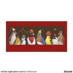 red hat night photo card