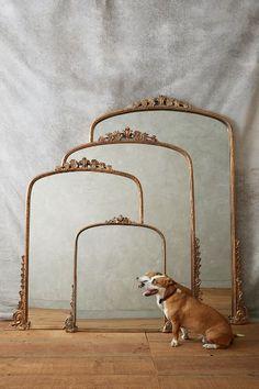 --> big floor leaning mirror / over the mantle Gleaming Primrose Mirror - anthropologie.com