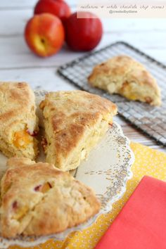 Nectarine and White Chocolate Chip Scones @createdbydiane