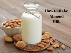 How To Make Almond Milk Using a Blendtec I'd like to show you How to Make Almond Milk using a Blendtec!  Of all the nut and seed milks, Almond milk is my absolute favorite!  It tastes so much…