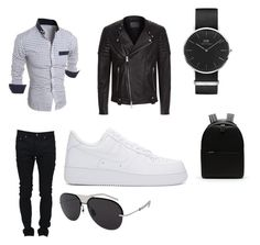 """""""Perfect Everyday In The Winter"""" by katiej369 on Polyvore featuring AllSaints, Yves Saint Laurent, NIKE, Daniel Wellington, Lacoste, Christian Dior, men's fashion and menswear"""