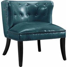 Linon Saphire Tufted Chair, Multiple Colors, Blue