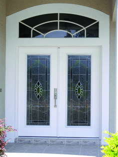 Baroque glass in double door glass inserts. They look wonderful ...