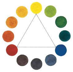 6 Color Palettes | Painting Palettes | Watercolor Painting | Choosing a Color Palette | Color Triad | Watercolor Artist | Artist Daily