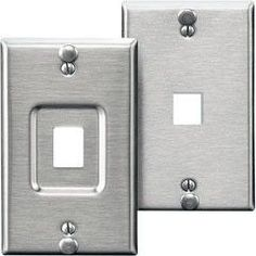 quickport stainless steel wallplate wrivets for phonevoip mfr leviton