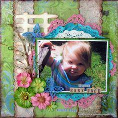 Sweet baby face - Scrapbook.com  --Designed by Rebecca Price--Wendy Schultz onto Scrapbook Art.