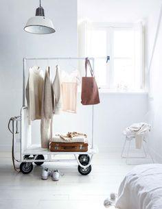 Sweet rolling wardrobe rack.