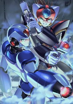 Mega Man, Video Game Characters, Anime Characters, Akira, Zero Wallpaper, Cultura Nerd, Kingdom Hearts Anime, Fighting Robots, Fanart