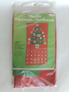 Bucilla Christmas Needlecraft Kit 1671 Vintage Advent Calendar Counting the Days #Bucilla