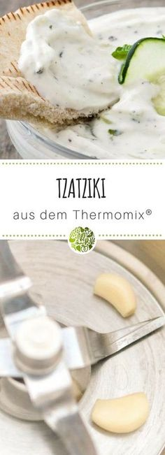 Creamy tzatziki (Tsatsiki, Zaziki) from the Thermomix® - Low Carb Vorspeisen - Pizza Recipes Barbecue Recipes, Pizza Recipes, Grilling Recipes, Sauce Recipes, Mexican Food Recipes, Ethnic Recipes, Quiche Recipes, Pumpkin Seed Recipes, Grilling Sides