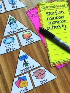 Compound Word Game. This Compound Words Printables and Activities Pack is designed for First and Second Grade students. There are 22 printables in total and 2 games for literacy centers/stations! The games are diverse in their difficulty so that you can cater for all the abilities in your classroom.