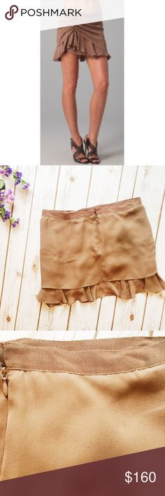 "Haute Hippie || Silk Chiffon Ruffle Mini Skirt ★ NWT but does have small area of snag on the back as shown.  ★ Reasonable Offers Accepted  ★ Measurements: 13"" Long   ★ NO TRADES ★ NO MODELING (eioby) Haute Hippie Skirts Mini"