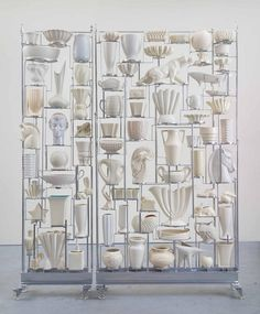 Joel Otterson White Wall of China 2014. American ceramic collection, steel…