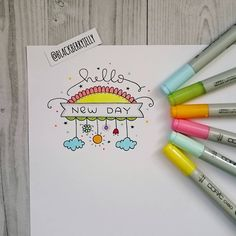 Day 248/365 Day 49/100 #blackberryjellysdoodles #the100dayproject #drawing #draweveryday #doodle #markers #hello #inspiration #copic… Doodle Art Drawing, Drawing Quotes, Pencil Art Drawings, Easy Drawings, Dotted Bullet Journal, Bullet Journal Art, Bullet Journal Ideas Pages, Doodle Lettering, Creative Lettering