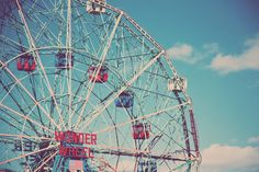 Wonder Wheel at Coney Island -- the ultimate carnival.