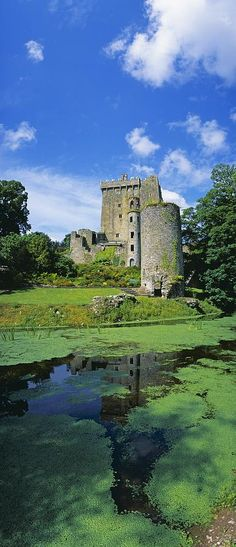 Pond In Front Of A Castle, Blarney Photograph  - Pond In Front Of A Castle, Blarney Fine Art Print  County Cork, Republic Of Ireland