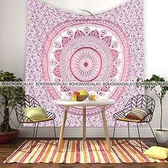 Bohomandala Free Spirit Mandala Pink Purple Tapestry * Continue to the product at the image link.