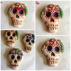 Art Jewelry Elements: Day of the Dead Sugar skull tutorial