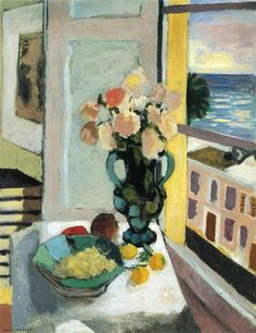 Henri Matisse, Flowers in Front of a Window, 1922